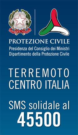 Terremoto centro Italia - SMS solidale al numero 45500