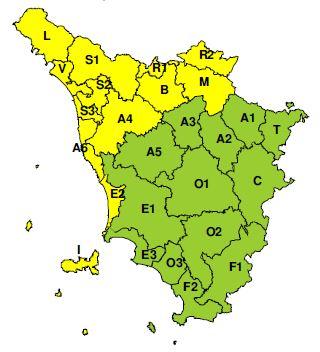 """Codice """"Giallo"""" a Prato per possibili forti temporali domenica 8 settembre 2019"""