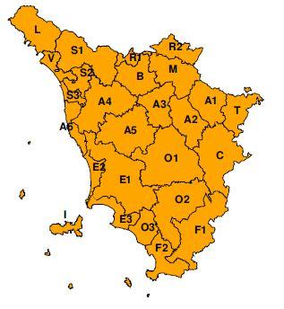"""Codice """"Arancione"""" a Prato per possibili forti temporali domenica 22 settembre 2019"""