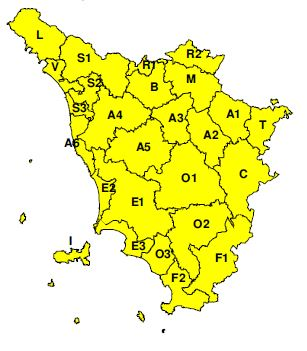 """Criticità """"gialla"""" dichiarata dal CFR per lunedì 2 dicembre 2019"""