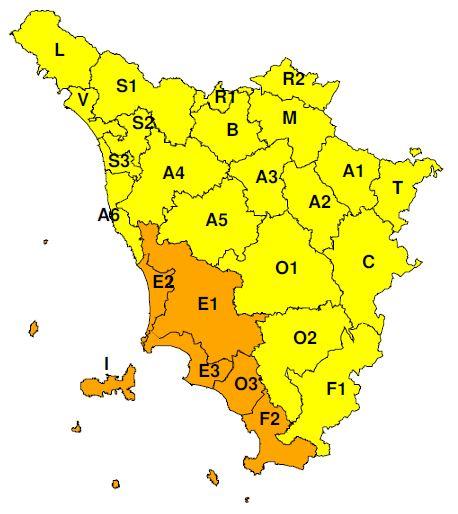 """Dichiarato dal CFR codice """"Giallo"""" per possibile forte vento anche a Prato - martedì 4 febbraio 2020"""